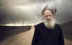 portrait, wind, people