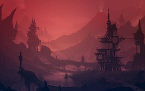 building, landscape, steampunk